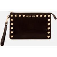 MICHAEL MICHAEL KORS Womens Medium Gusset Wristlet Bag - Black