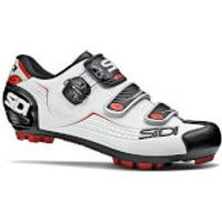 Sidi Trace MTB Shoes - White/Black/Red - EU 40.5 - White/Black/Red