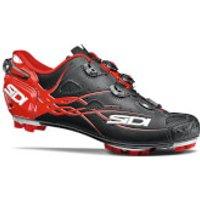 Sidi Tiger Matt Carbon MTB Cycling Shoes - Black/Red - EU 46 - Matt Black/Red