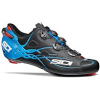 Sidi Shot Matt Road Shoes - Matt Black/Light Blue - EU 43.5 - Matt Black/Light Blue