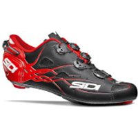 Sidi Shot Matt Carbon Cycling Shoes - Black/Red - EU 42/UK 7 - Black/Red