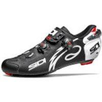 Sidi Wire Matt Carbon Vernice Cycling Shoes - Black/White - EU 48/UK 11.5 - Black/White