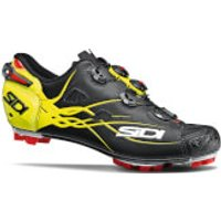 Sidi Tiger Matt Carbon MTB Cycling Shoes - Black/Yellow Fluo - EU 41 - Matt Black/Yellow Fluo