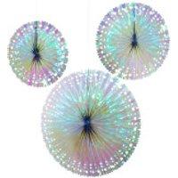 Petrol Fan Decorations - Iridescent
