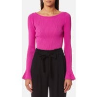 MICHAEL MICHAEL KORS Women's Boatneck Bell Sleeve Sweatshirt - Ultra Pink - M - Pink