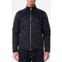 Barbour International Mens Quilted Gabion Jacket - Navy - M - Blue
