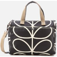 Orla Kiely Womens Giant Linear Stem Messenger Bag - Liquorice