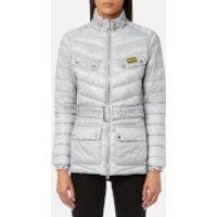 Barbour International Women's Gleann Quilt Jacket - Ice White - UK 8 - Grey
