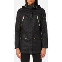 Barbour International Womens Ridge Wax Jacket - Black - UK 8 - Black