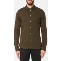 PS by Paul Smith Men's Slim Fit Long Sleeve Pique Shirt - Green - L - Green