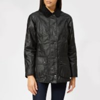 Barbour Womens Beadnell Wax Jacket - Black - UK 16