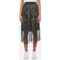 Samsoe & Samsoe Womens Paris Skirt - Gold Blue - L - Multi