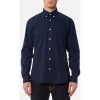 Barbour Men's Preston Long Sleeve Shirt - Navy - S - Blue