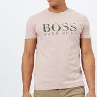 BOSS Orange Mens Tauno 7 Printed T-Shirt - Pink - M - Pink