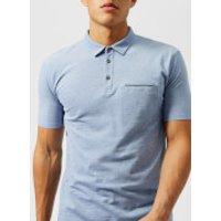 HUGO Mens Darrow Pocket Polo Shirt - Blue - L - Blue