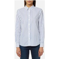 GANT Womens Barre Stripe Shirt - Yale Blue - UK 10 - Blue