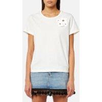 Marc Jacobs Women's Cap Sleeve Scoop Neck T-Shirt - Ivory - M - White