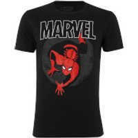 Marvel Mens Spider-Man Spotlight T-Shirt - Black - M - Black
