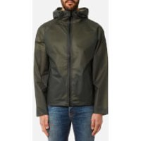 Hunter Mens Original Vinyl Windcheater Jacket - Dark Olive - M - Green