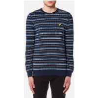 Lyle & Scott Men's Pick Stitch Jumper - Navy - XL - Navy