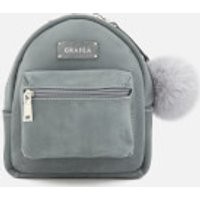 Grafea Women's Small Zippy Backpack with Pom Pom - Feather