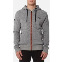 Superdry Mens Orange Label Urban Flash Zip Hoody - Urban Grey Grit - M - Grey