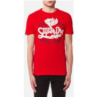 Superdry Men's Athletic Core 54 T-Shirt - Riviera Red Slub - L - Red