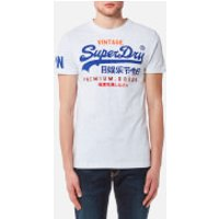Superdry Mens Premium Goods T-Shirt - Ice Marl - L - White