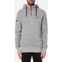 Superdry Mens Orange Label Urban Flash Half Zip Hoody - Urban Grey Grit - XL - Grey