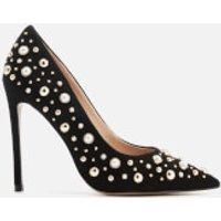 Carvela Womens Alabaster Suede Embellished Court Shoes - Black - UK 4 - Black