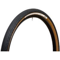 Panaracer Gravel King SK Tubeless Compatible Clincher Tyre - 27.5in x 1.90in - black/brown
