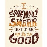 Harry Potter 'I Solemnly Swear' Art Print - Harry Potter Gifts
