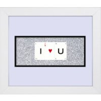 Playing Card Co 'I Love U' Framed Vintage Style Playing Cards - 30x 25cm - Cards Gifts