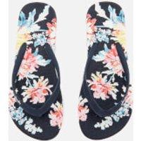 Joules Womens Flip Flops - Navy Whitstable Floral - UK 3 - Navy