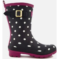Joules Womens Molly Short Wellies - French Navy Spot - UK 3 - Navy
