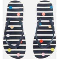 Joules Women's Flip Flops - Navy Fun Spot - UK 3 - Navy