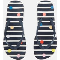 Joules Women's Flip Flops - Navy Fun Spot - UK 4 - Navy