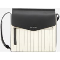 Fiorelli Womens Mia Large Cross Body Bag - White Pin Stripe