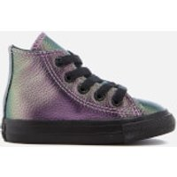 Converse Toddlers' Chuck Taylor All Star Hi-Top Trainers - Violet/Black/Black - UK 2 Toddler - Purpl