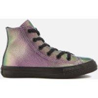 Converse Kids' Chuck Taylor All Star Hi-Top Trainers - Violet/Black/Black - UK 11 Kids - Purple