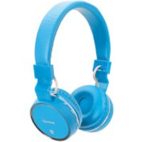 AV: Link Wireless Bluetooth On-Ear Noise Cancelling Headphones (With Built-in FM Radio) - Blue - Headphones Gifts