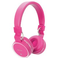 AV: Link Wireless Bluetooth On-Ear Noise Cancelling Headphones (With Built-in FM Radio) - Pink - Headphones Gifts