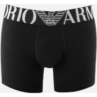 Emporio Armani Men's Stretch Cotton Boxer Shorts - Nero - L - Black