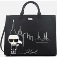Karl Lagerfeld Womens NYC Tote Bag - Black