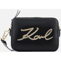 Karl Lagerfeld Womens Signature Camera Bag - Black