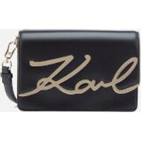 Karl Lagerfeld Womens Signature Shoulder Bag - Black