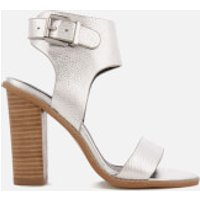 Sol Sana Womens Tiki II Leather Heeled Sandals - Silver - UK 5 - Silver
