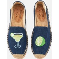 Soludos Soludos Women's Margarita Platform Smoking Slippers - Dark Denim - UK 8/US 11 - Blue