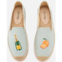 Soludos Soludos Women's Mimosa Platform Smoking Slipper Espadrilles - Chambray - UK 8/US 11 - Blue