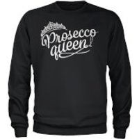 Prosecco Queen Black Sweatshirt - S - Black